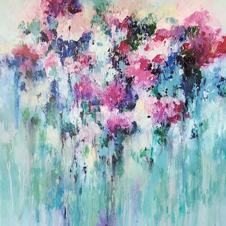 (CreativeWork) Besotted by Helen Miles. Acrylic Paint. Shop online at Bluethumb.