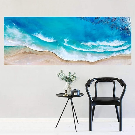 (CreativeWork) Dreaming of the Ocean  by Eva Johnova. Resin. Shop online at Bluethumb.