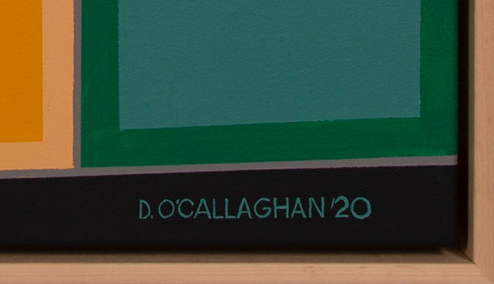 (CreativeWork) Farmland Composition V by Dean O'Callaghan. Acrylic Paint. Shop online at Bluethumb.