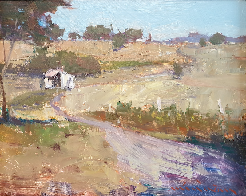 (CreativeWork) Landscape in Dayboro by Minhan Cho. Oil Paint. Shop online at Bluethumb.