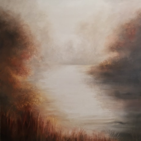 (CreativeWork) Misty Morning by Cathy Yarwood - Mahy. Oil Paint. Shop online at Bluethumb.