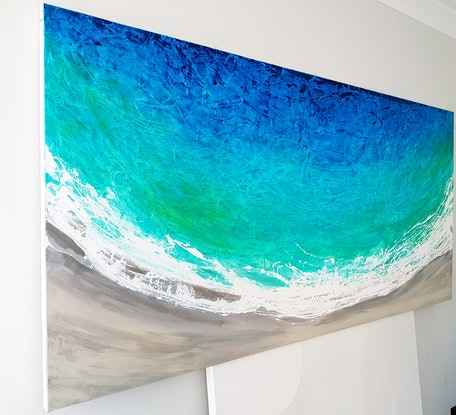 (CreativeWork) GREAT TURQUOISE ESCAPE by Basia Kilian. Acrylic Paint. Shop online at Bluethumb.