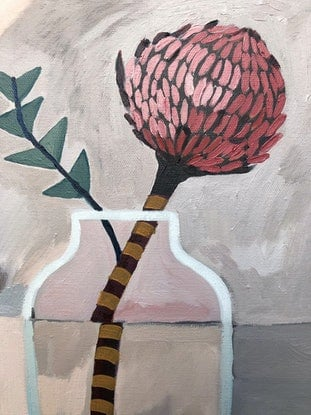 (CreativeWork) Baxter Banksia Intersect 2020 by Sally Browne. Oil Paint. Shop online at Bluethumb.