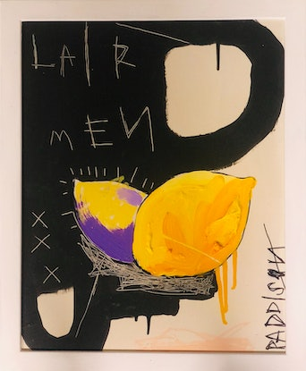 (CreativeWork) LairMen by Nathan Paddison. Acrylic Paint. Shop online at Bluethumb.