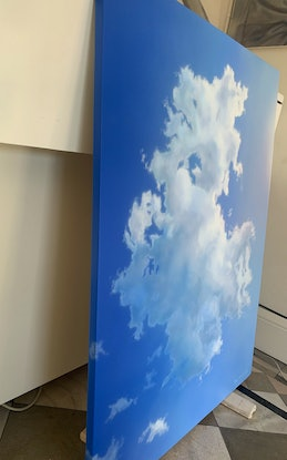 (CreativeWork) Portrait of a Cloud by David Tracey. Acrylic Paint. Shop online at Bluethumb.