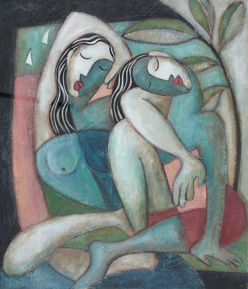 (CreativeWork) 'BATHERS AND DANCERS' Ed. 1 of 100 by Wendy Wooden. Print. Shop online at Bluethumb.