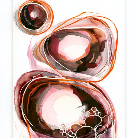 (CreativeWork) Shock Orange III by Lara Scolari. Mixed Media. Shop online at Bluethumb.