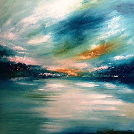 (CreativeWork) East Coast  by Alice Howell. Oil Paint. Shop online at Bluethumb.