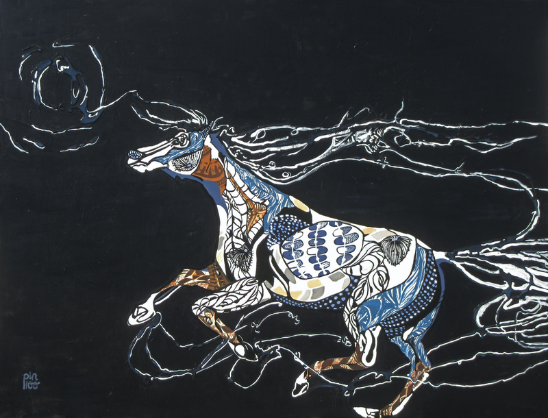 (CreativeWork) Fantasy Horse by Lesley Taylor. Acrylic Paint. Shop online at Bluethumb.