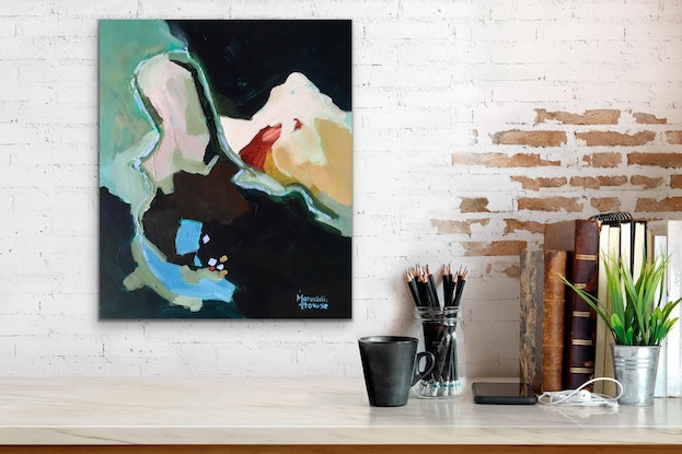 (CreativeWork) The Shiralee by Meredith Howse. Acrylic Paint. Shop online at Bluethumb.