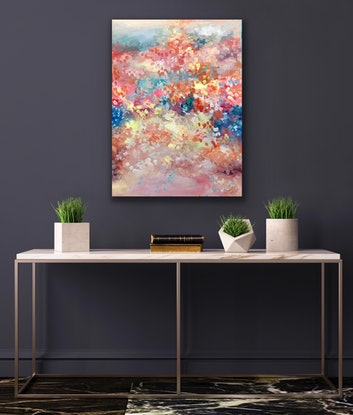 (CreativeWork) Mystical  Garden  by Theo Papathomas. Oil Paint. Shop online at Bluethumb.