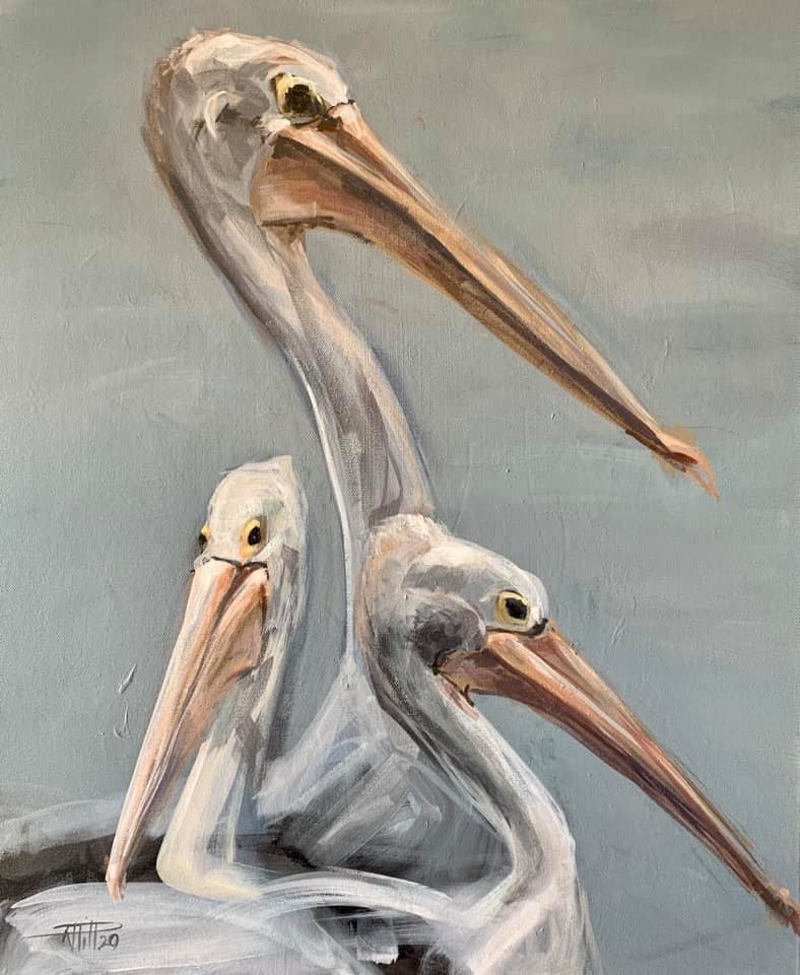 (CreativeWork) When We Stand Together by Rebecca Hill. Acrylic Paint. Shop online at Bluethumb.
