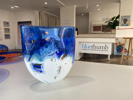 (CreativeWork) Glass Vase (Flat, Xtra Large) - Reef Collection  by Eamonn Vereker. Other Media. Shop online at Bluethumb.