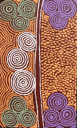 (CreativeWork) Minyma Tjukurpa  18-1530 by Joy Jackson. Acrylic Paint. Shop online at Bluethumb.