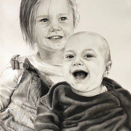 (CreativeWork) Annabelle's Kids by Ro Geddes. Drawings. Shop online at Bluethumb.