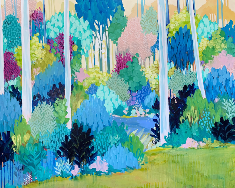 (CreativeWork) Finding Pathways, large scale framed artwork by Clair Bremner by Clair Bremner. Acrylic Paint. Shop online at Bluethumb.