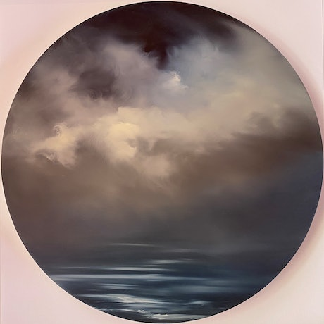 (CreativeWork) Porthole 1 by Elaine Green. Oil Paint. Shop online at Bluethumb.