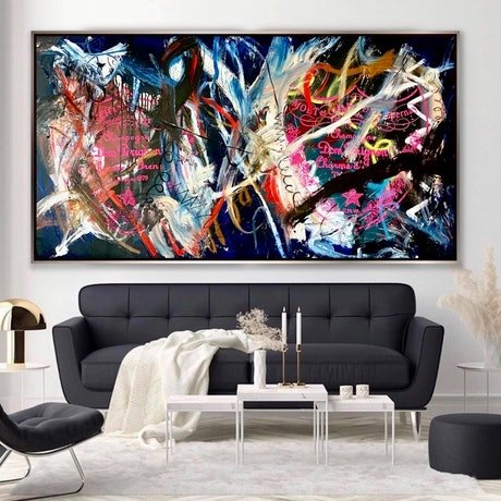 (CreativeWork) Champagne Nights by Shane Bowden. Acrylic Paint. Shop online at Bluethumb.