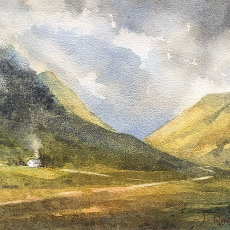 (CreativeWork) Highland glory. by Vivi Palegeorge. Watercolour Paint. Shop online at Bluethumb.
