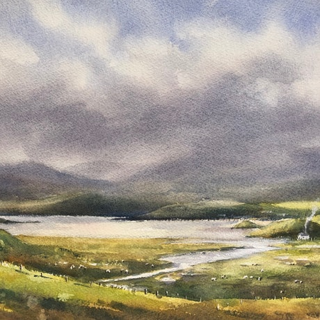 (CreativeWork) Highland solitude. by Vivi Palegeorge. Watercolour Paint. Shop online at Bluethumb.