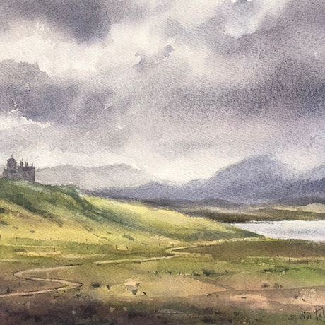 (CreativeWork) Highland views. by Vivi Palegeorge. Watercolour Paint. Shop online at Bluethumb.