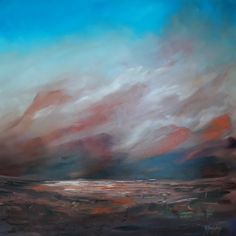 (CreativeWork) The Long Way Round by Rose Knight. Oil Paint. Shop online at Bluethumb.