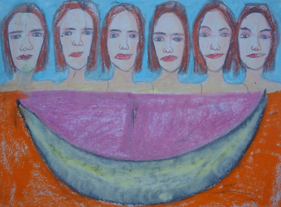 (CreativeWork) MOON SHINE by Paula Reilly. Drawings. Shop online at Bluethumb.