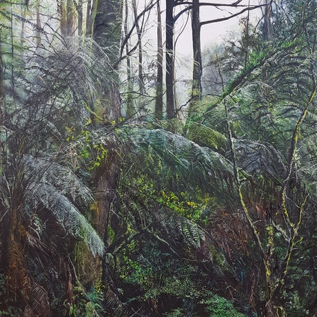(CreativeWork) In the Shadow of Giants by Fae Ballingall. Oil Paint. Shop online at Bluethumb.