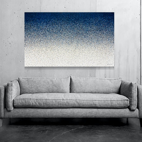 (CreativeWork) Time Tide 152 x 92cm by George Hall. Acrylic Paint. Shop online at Bluethumb.