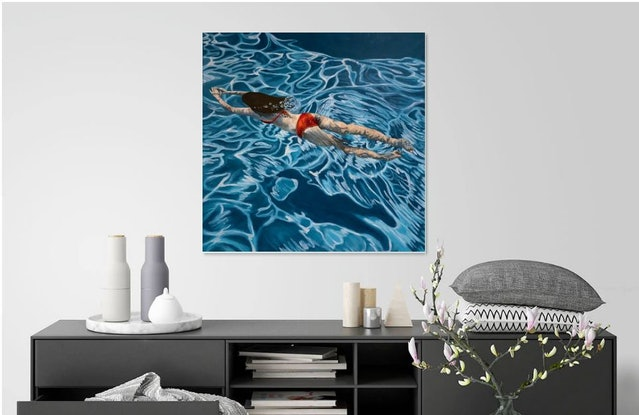 (CreativeWork) Summer Drift by Amanda Cameron. Oil Paint. Shop online at Bluethumb.