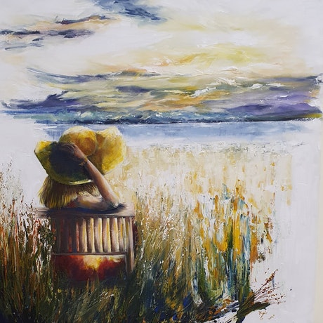 (CreativeWork) A beauitfull moment by Keir Jamieson. Acrylic Paint. Shop online at Bluethumb.