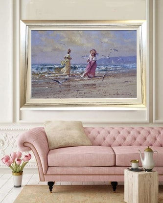 (CreativeWork) 'BREEZY DAY' - Collectible Investment Art,  Romantic by Robert Hagan. Oil Paint. Shop online at Bluethumb.