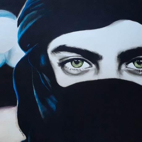 (CreativeWork) Bedouin Eyes by Kati Garrett Filho. Mixed Media. Shop online at Bluethumb.