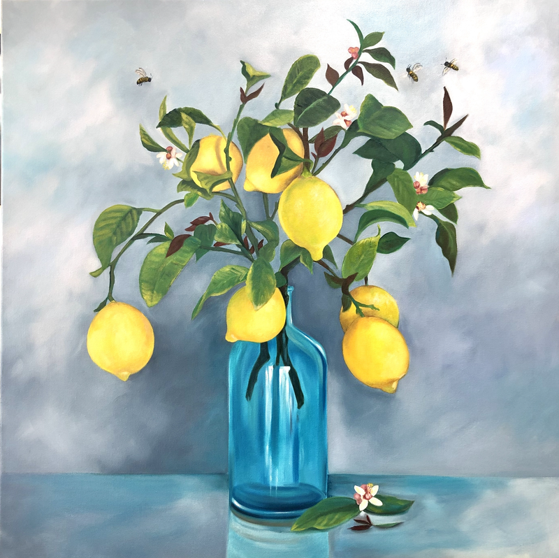(CreativeWork) Commission for Alexandra - Lemon Delicious by Mia Laing. Oil Paint. Shop online at Bluethumb.