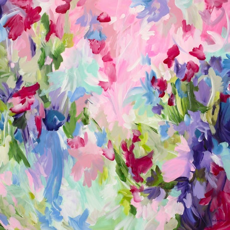 (CreativeWork) Confetti Crush by Amber Gittins. Acrylic Paint. Shop online at Bluethumb.
