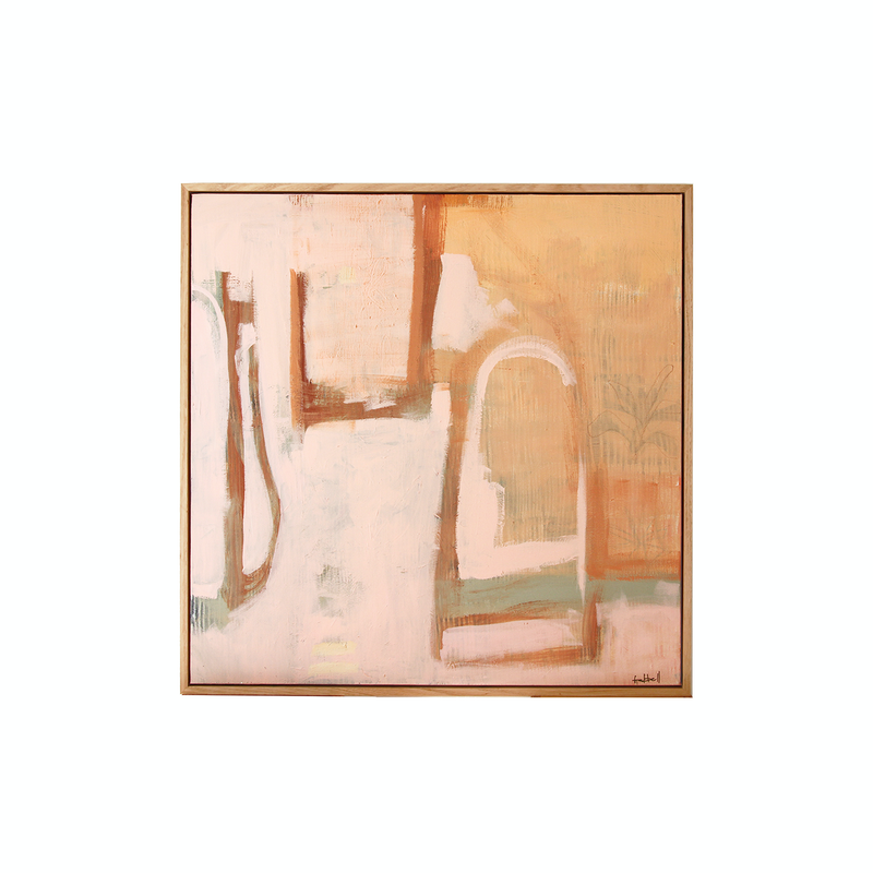 (CreativeWork) Apricot Rose by Gelbell Art. Acrylic Paint. Shop online at Bluethumb.