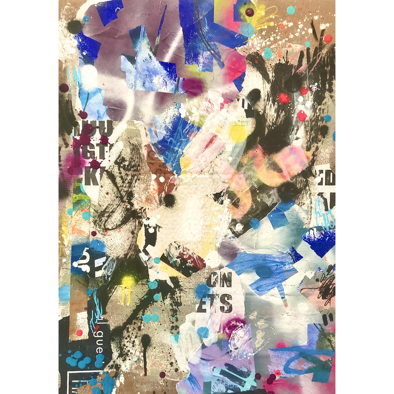 (CreativeWork) LATE 90's RAVE by Cold Ghost. Mixed Media. Shop online at Bluethumb.