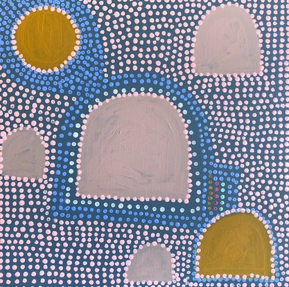 """(CreativeWork) """"Under One Sun"""" by Abstract Momo. Acrylic Paint. Shop online at Bluethumb."""