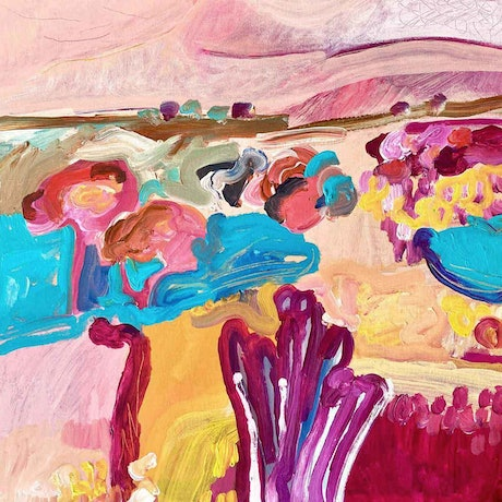 (CreativeWork) Daydream by Sally Fisher. Acrylic Paint. Shop online at Bluethumb.