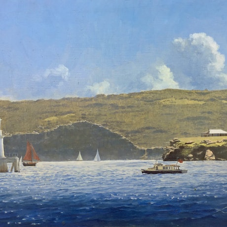 (CreativeWork) Off Watsons Bay, Sydney Harbour by Steven Heyen. Oil Paint. Shop online at Bluethumb.