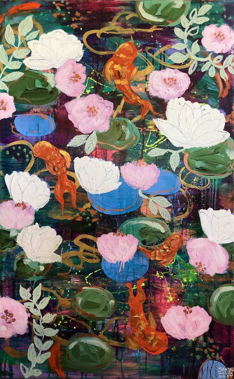 (CreativeWork) Floating by Sandra Oost. Acrylic Paint. Shop online at Bluethumb.