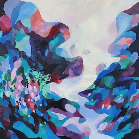 (CreativeWork) Hills Exploring by Nicole Black. Oil Paint. Shop online at Bluethumb.