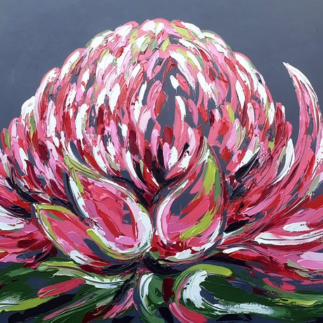 (CreativeWork) Always look on the bright side of life by Lisa Fahey. Acrylic Paint. Shop online at Bluethumb.