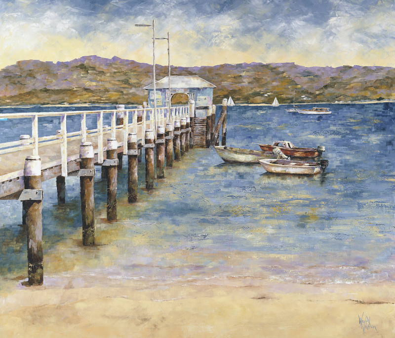 (CreativeWork) 'Old Palm Beach Wharf' Ed. 5 of 100 by Wendy Wooden. Print. Shop online at Bluethumb.