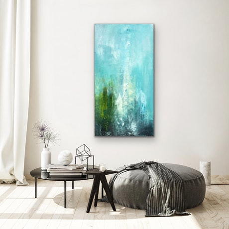 (CreativeWork) Forest Mist by Emma Wreyford. Acrylic Paint. Shop online at Bluethumb.
