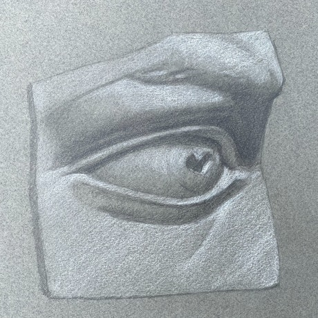 (CreativeWork) Eye Study by Kate Gradwell. Drawings. Shop online at Bluethumb.