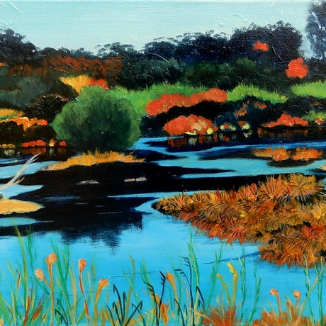 (CreativeWork) Urban Wetland   by Doodie Herman. Acrylic Paint. Shop online at Bluethumb.