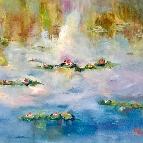 (CreativeWork) MY  LILIES by Kryssy Byrne. Oil Paint. Shop online at Bluethumb.
