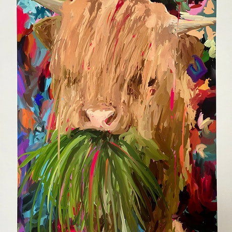 (CreativeWork) Do You Like Pina Colada's? I Don't, I Prefer Grass and I Don't Like Getting Caught in the Rain Cos I Cant See My Friends For All the Wet Hair Ed. 1 of 25 by Pip Phelps. Print. Shop online at Bluethumb.