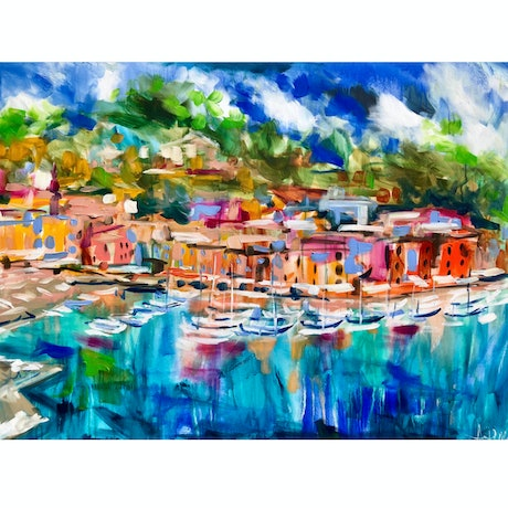 (CreativeWork) Marina di Portofino  Ed. 1 of 10 by Amanda Brooks. Print. Shop online at Bluethumb.